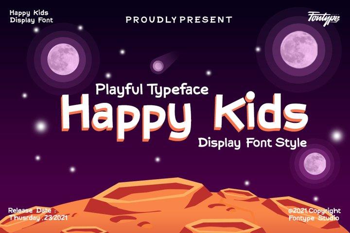 Happy Kids - Display Font