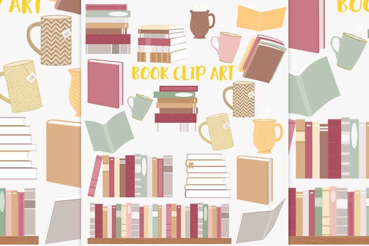 Book lover clipart set