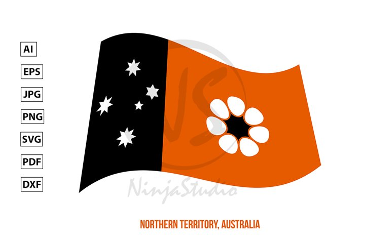 Northern Territory Flag Waving. Territory Flag of Australia