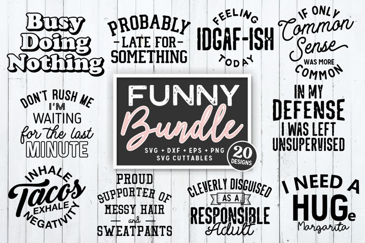 Funny Bundle | Funny SVG Cut Files