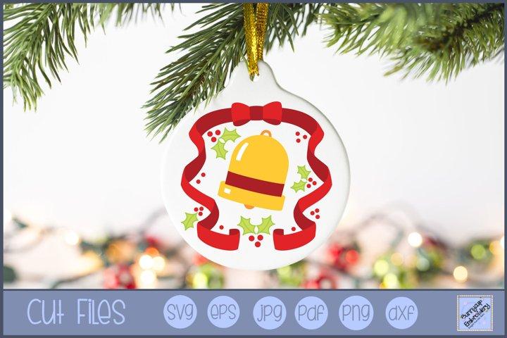 Christmas Bell Laurel SVG | Christmas SVG
