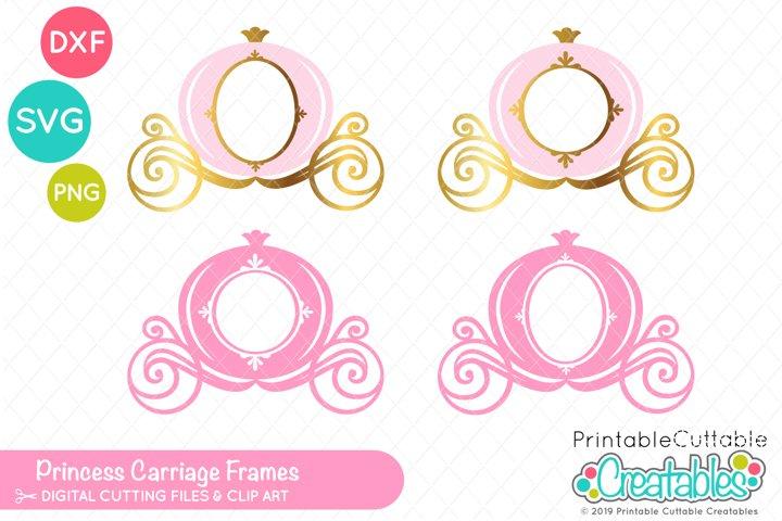Princess Carriage Monogram Frame / Photo Frame SVG