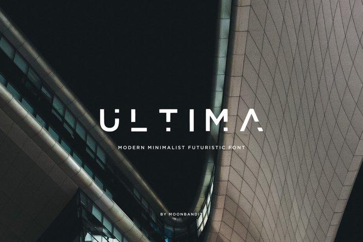 ULTIMA - modern futuristic font