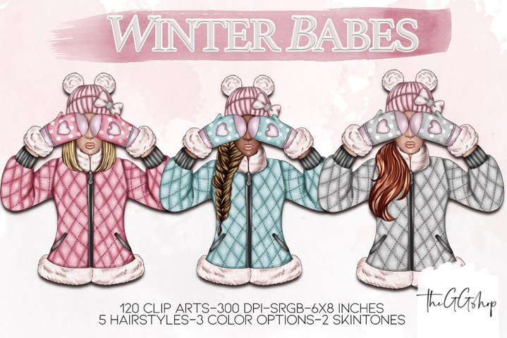 Winter Girls Png Cliparts