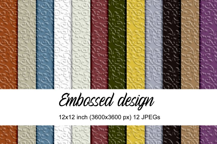 Embossed design digital papers
