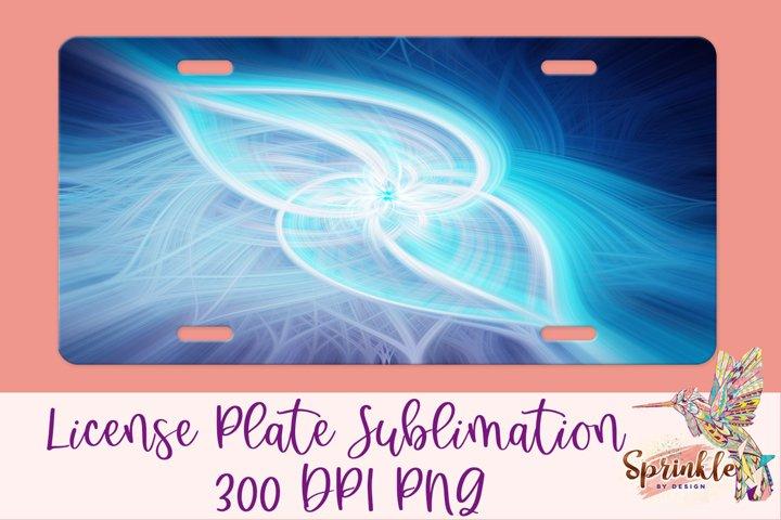 Blue Spirals License Plate Sublimation