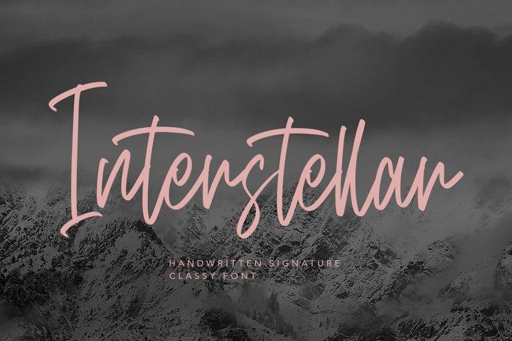 Web Font Interstellar - Script Fonts