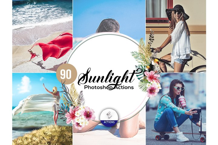 90 Sunlight Photoshop Actions