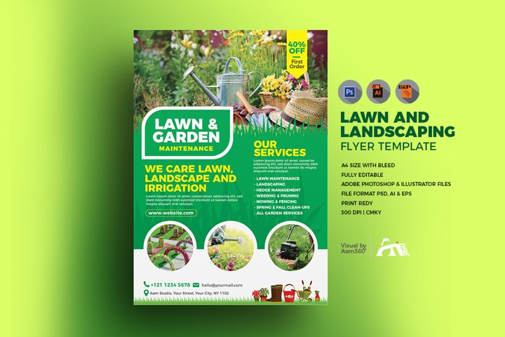 Lawn and Landscaping Flyer