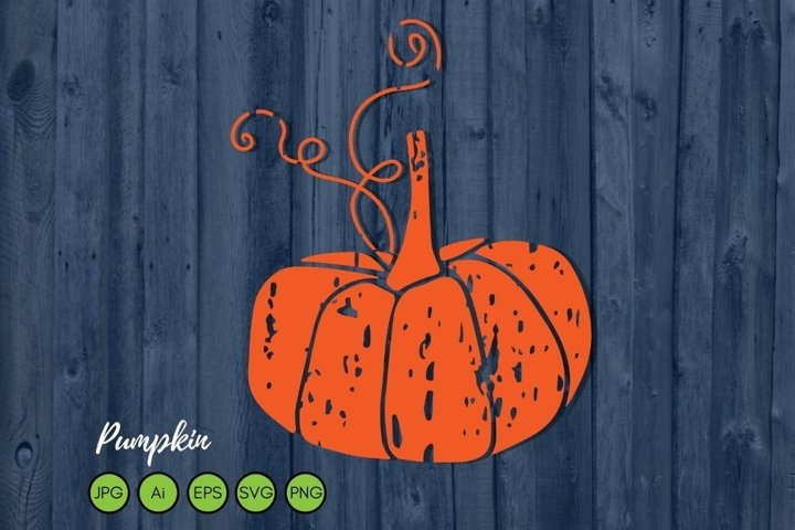 Distressed Pumpkin SVG. Grunge svg file. Fall Pumpkin svg