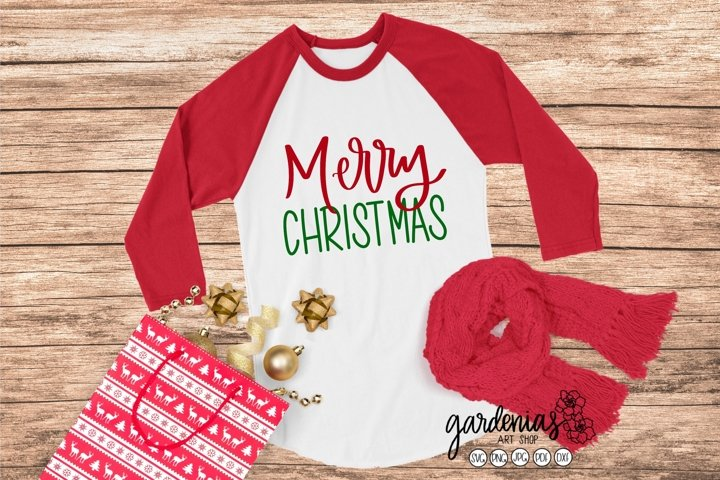 Merry Christmas Hand Lettered | Christmas Clip Art | PNG