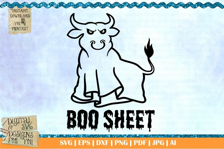 Boo sheet | Halloween svg | ghost svg | boo svg | scary svg