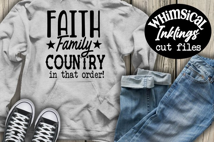 Faith Family Country SVG
