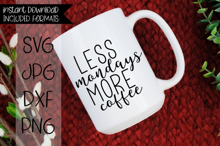 Less Mondays More Coffee