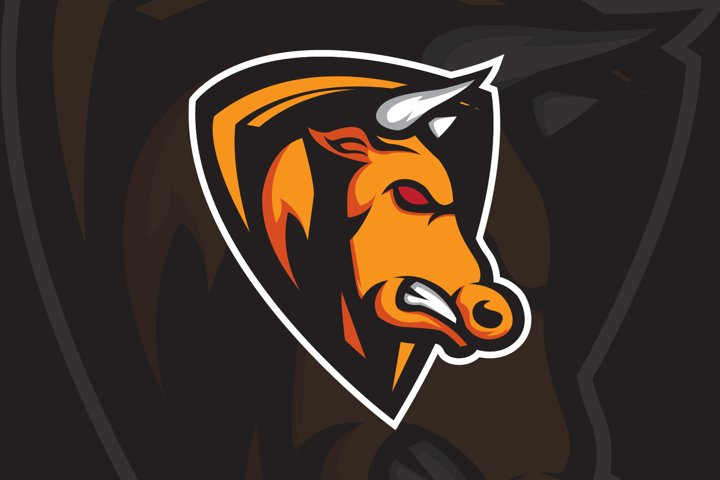 Bull Mascot Logo, Sport, Esport Team