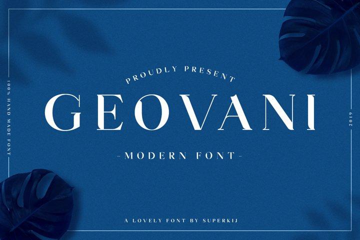 Geovani | Modern Font