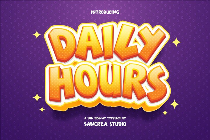 Daily Hours - A Fun Display Font