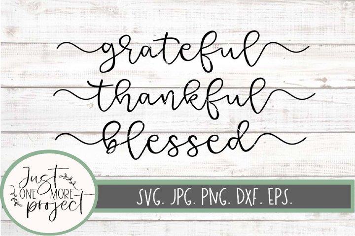 Grateful svg, Thankful svg, Thankful sign svg, Grateful Sign