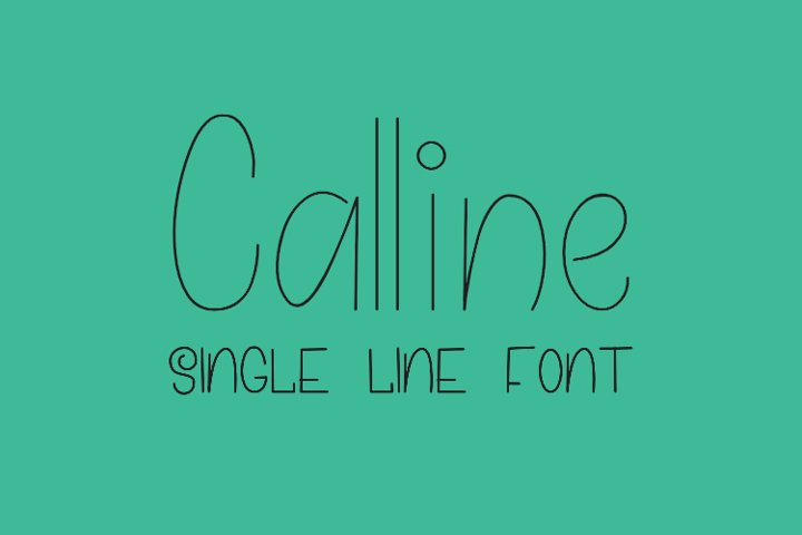 Calline - Single Line - Hair Line Font