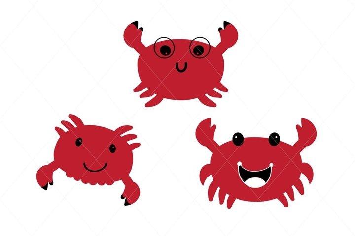 Baby crab svg, crab cut file, crab clip art, crab vector