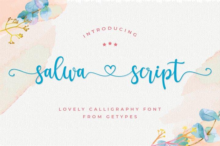Salwa Script | a lovely font