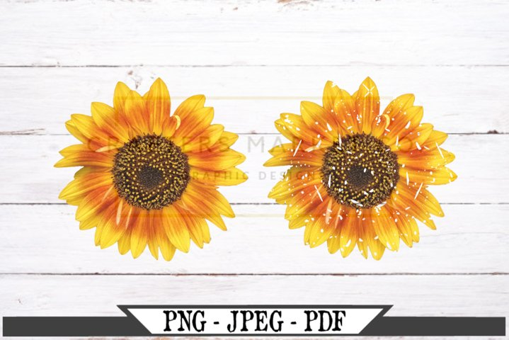 Sunflower Regular and Distressed PNG