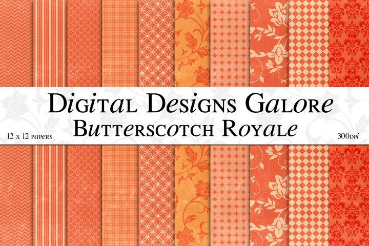 Butterscotch Royale Digital Paper Pack