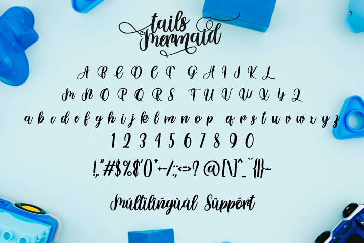 Tails Mermaid - a Crafted Script - Free Font of The Week Design5