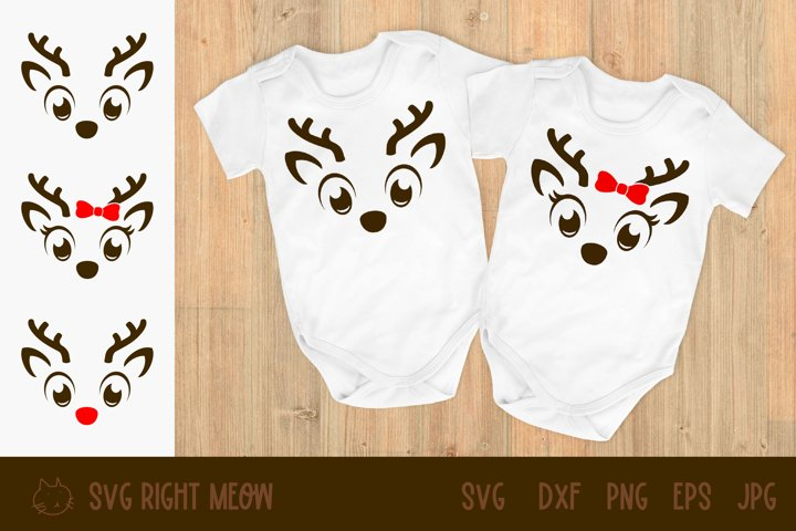 Reindeer SVG, Christmas deer Clipart