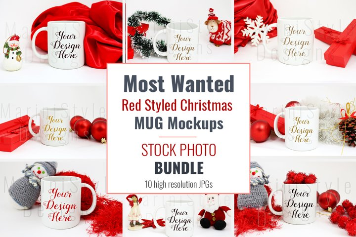 Mug mockup BUNDLE for Christmas, Christmas backgrounds 879