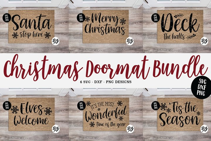 Christmas Welcome Mat Bundle Vol. 1 SVG DXF PNG