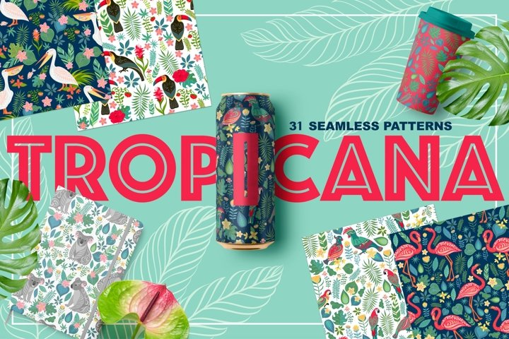 TROPICANA, 31 Seamless Patterns