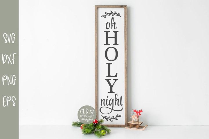 Oh Holy Night - Vertical Christmas SVG