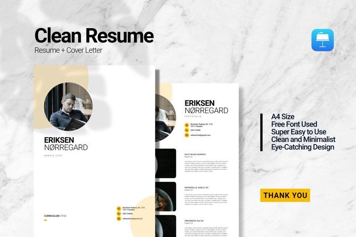 Clean Chef Resume Keynote
