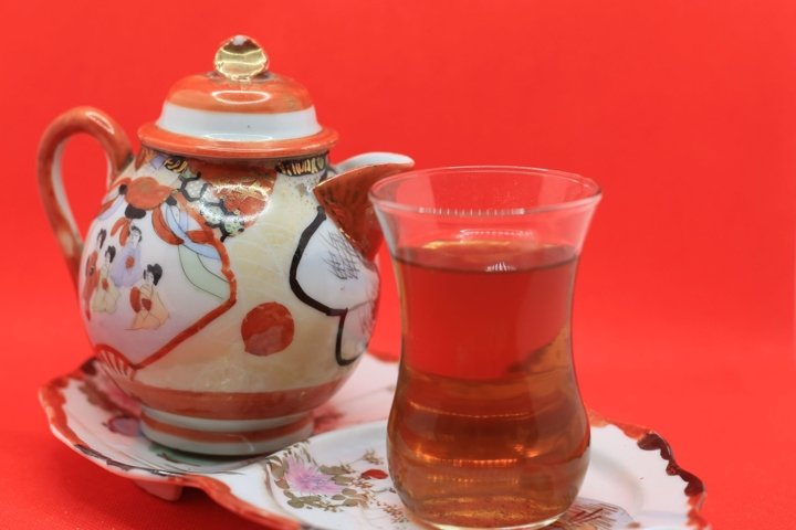 tea in a Turkish glass