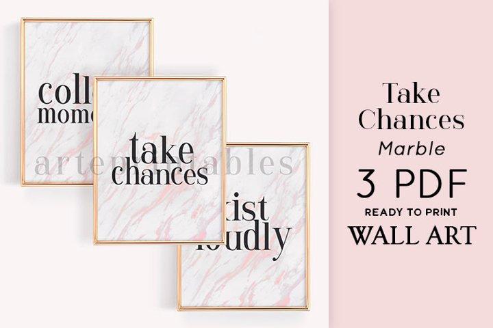 Take Chances Marble Wall Art