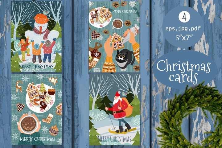 Christmas cards templates, Christmas clearance with Santa