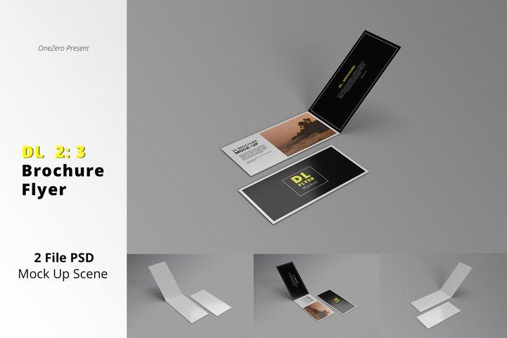 DL Brochure and Flyer Mockup Design PSD Vol 01