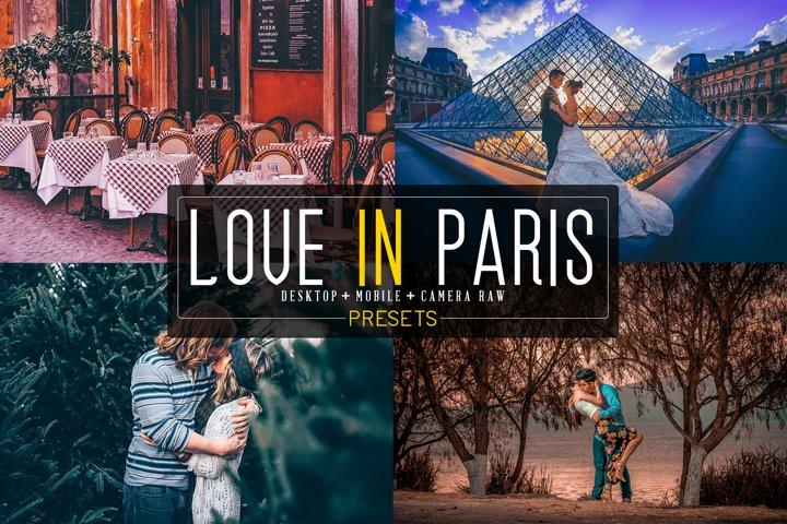 20 Love In Paris Lightroom presets