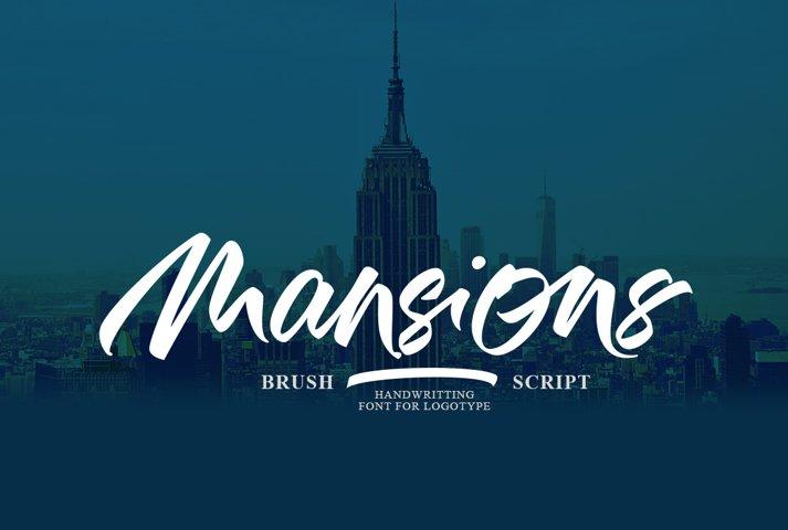 Mansions Brush Script