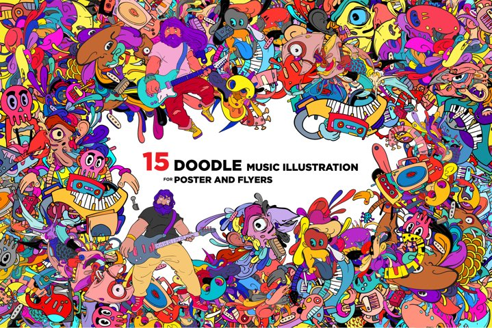 15 Doodle Music Illustration for World Music Day