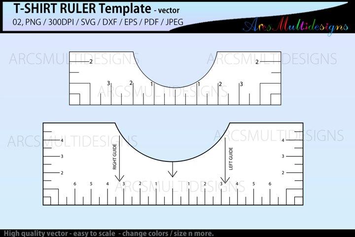 T-Shirt Alignment ruler svg / Shirt Ruler Printable