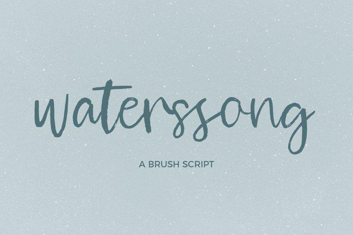 Waterssong Brush Script