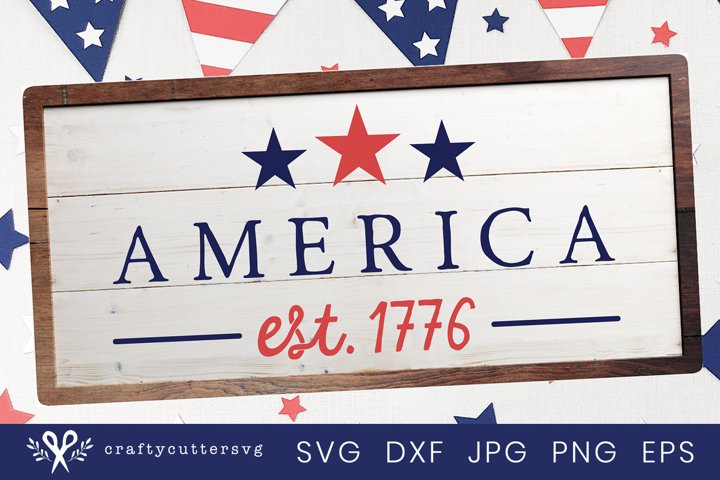 4th of July America Svg Sign| Fourth of July Home Decor