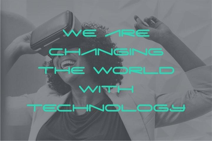 Digitechno - Futuristic Font example 5