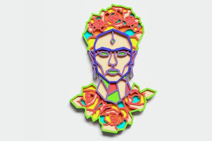 Multilayer Frida Kahlo Mandala, for cutting machines