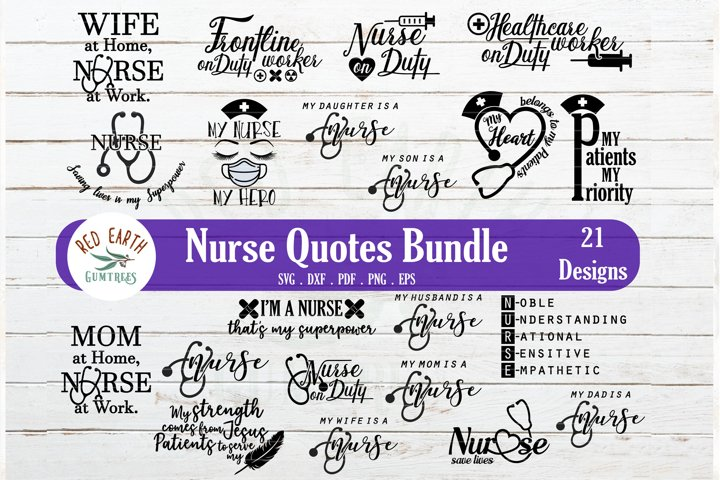 Nurse quotes and sayings SVG bundle,nurse healthcare worker
