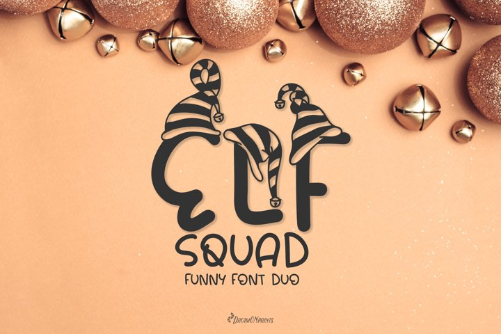 Elf Squad Font Duo | Funny Christmas Font