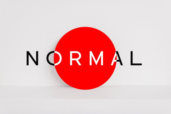 NORMAL - Minimal Typeface & WebFonts