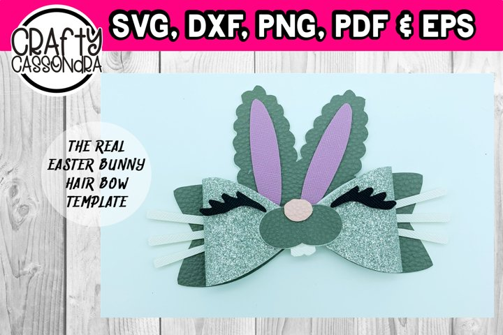 Easter hair bow - The real easter bunny hair bow template